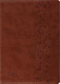 The MacArthur Study Bible (Trutone, Natural Brown, Woodcut Design)