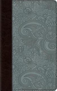Esv thinline bible trutone chocolate blue garden design for Garden design bible