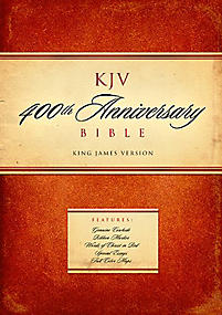 KJV 400th Anniversary Bible, Black Genuine Leather