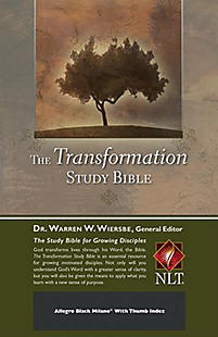 The Transformation Study Bible--Black Bonded Leather W/ Thumb Index