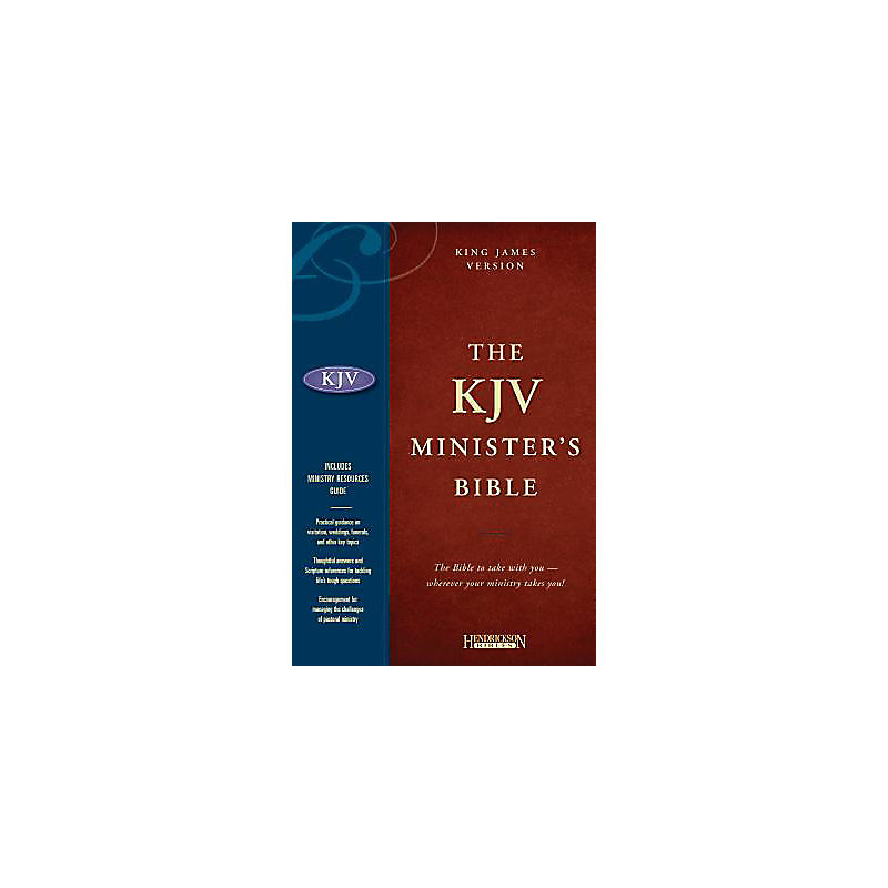 The KJV Minister's Bible: black