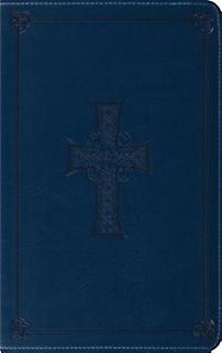 Classic Thinline Bible-ESV-Celtic Cross (Royal Blue)