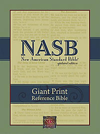 NASB Giant Print Reference Bible - Black Leathertex