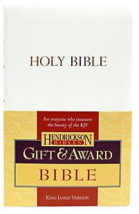 KJV Gift & Award Bible (White)