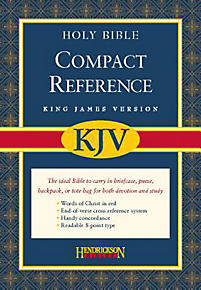 KJV Compact Reference Bible: Bonded Leather with Snap Flap (Burgundy)