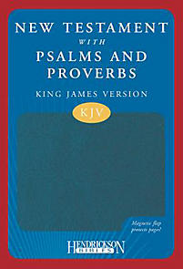 New Testament with Psalms and Proverbs-KJV-Magnetic Flap (Burgundy)