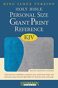 Personal Size Giant Print Reference Bible-KJV (Blue/Gray)