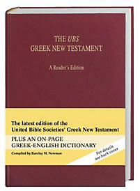 The UBS Greek New Testament a Reader's Edition