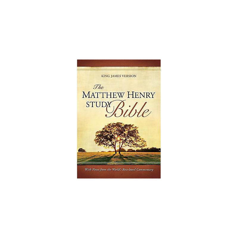 Matthew Henry Study Bible - KJV (Mahogany/Chocolate)