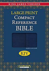 Compact Reference Bible-KJV-Large Print                                                                                                                (Blue)