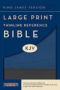 Thinline Reference Bible-KJV-Large Print                                                                                                               (Slate Blue)