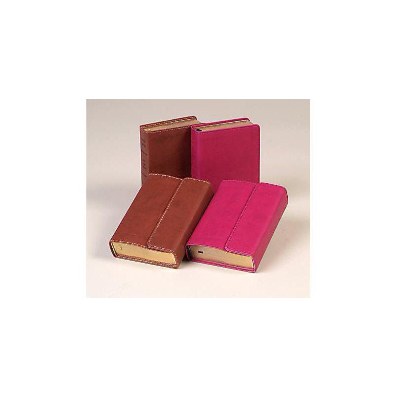 Large Print Compact Reference Bible-KJV-Magnetic Flap (Berry)
