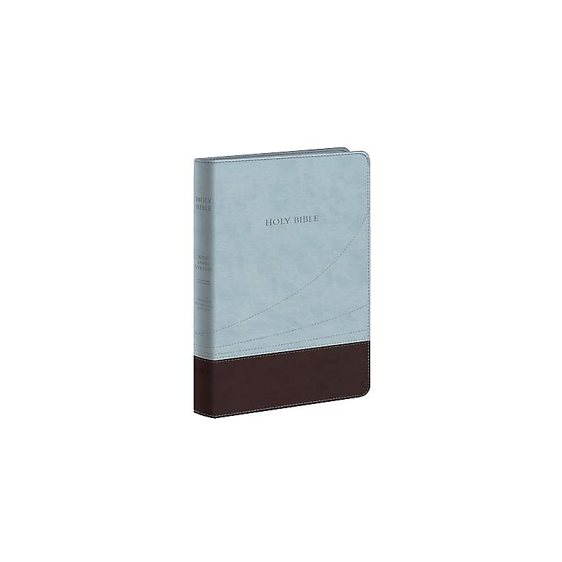 Large Print Thinline Reference Bible-KJV (Blue/Brown)