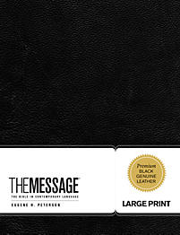 The Message Large Print Premium Leather                                                                                                                (Black)