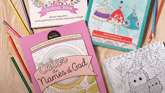 Christian Coloring Books, Puzzle Books and Cookbooks