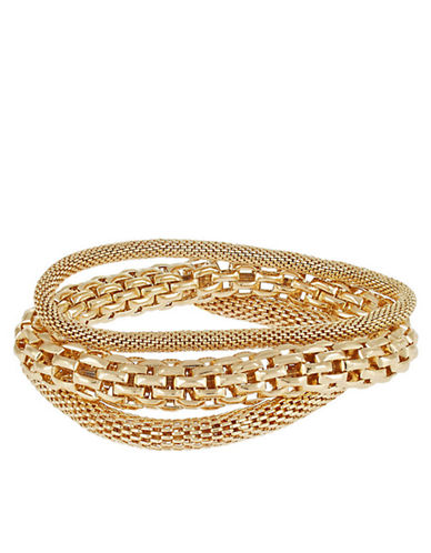 CATHERINE STEINThree-Piece Mesh and Chain-Link Bracelets