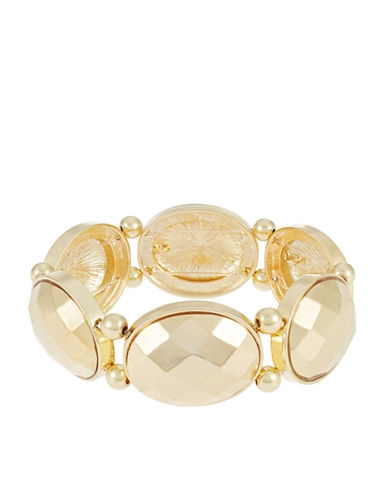 CATHERINE STEIN Textured Oval Accented Bracelet
