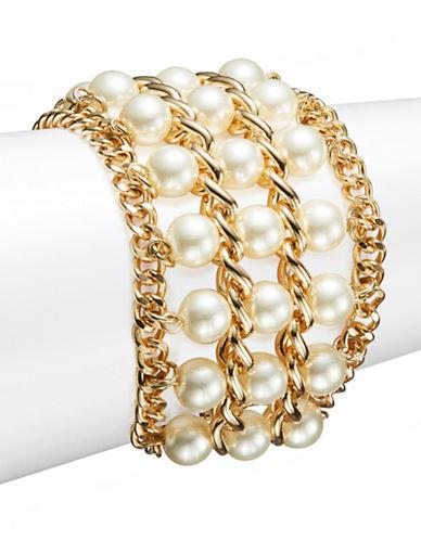CATHERINE STEINFaux Pearl Three Row Bracelet