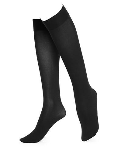 HUEPLUS Soft Opaque Knee High Socks