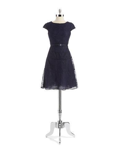 ANNE KLEINRibbed Floral Dress