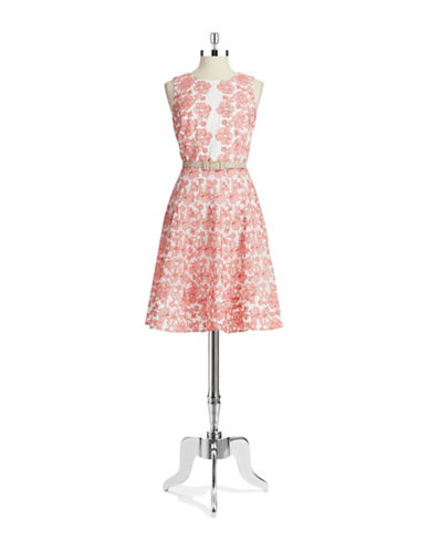 Shop Anne Klein online and buy Anne Klein Floral A Line Dress dress online