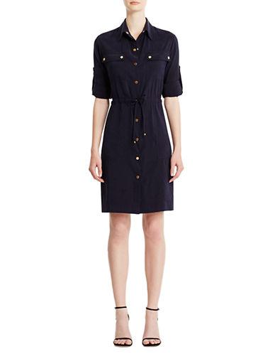 JONES NEW YORKShirt Dress with Roll Tab Sleeves