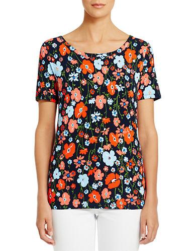 JONES NEW YORK PLUSPlus Floral Print T Shirt