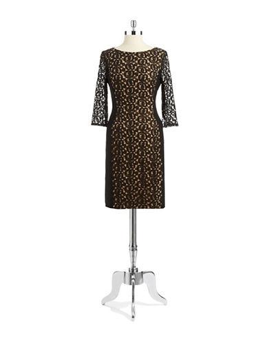 ANNE KLEINLace Accented Sheath Dress
