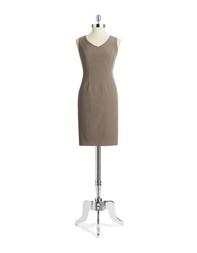 ANNE KLEINV Neck Sheath Dress