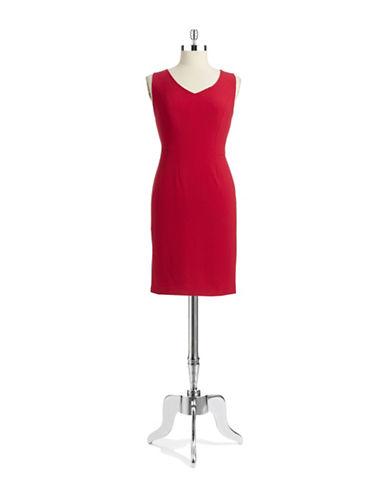 ANNE KLEIN PETITEPetite V Neck Sheath Dress