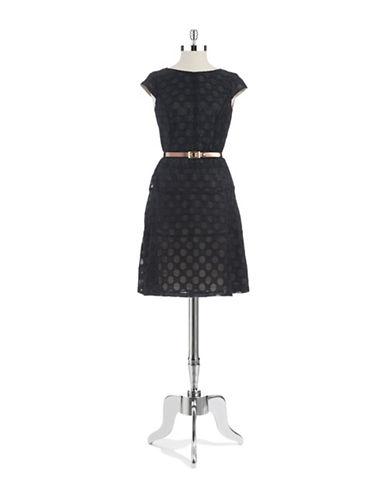 Shop Anne Klein online and buy Anne Klein Petite Sheer Dotted Dress dress online