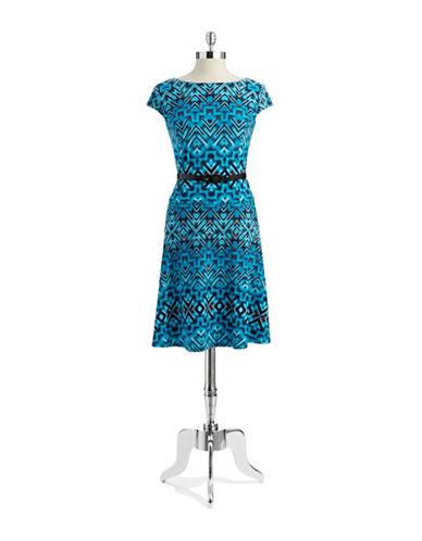 ANNE KLEINAztec Print Dress