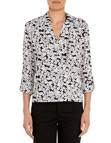 JONES NEW YORK PLUS Plus Floral Print Wrap Blouse