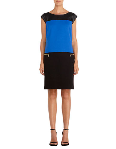 JONES NEW YORK PETITESPetite Colorblock Shift Dress
