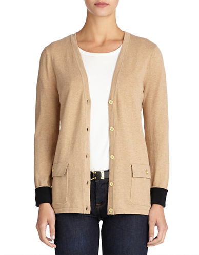 Jones New York Plus Plus V Neck Cardigan