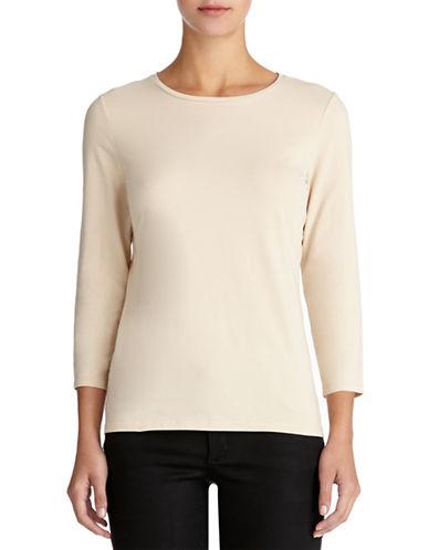 JONES NEW YORK PLUSPlus Stretch Cotton Crewneck T Shirt