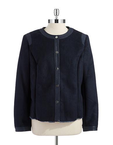 JONES NEW YORKFaux Shearling Cropped Jacket