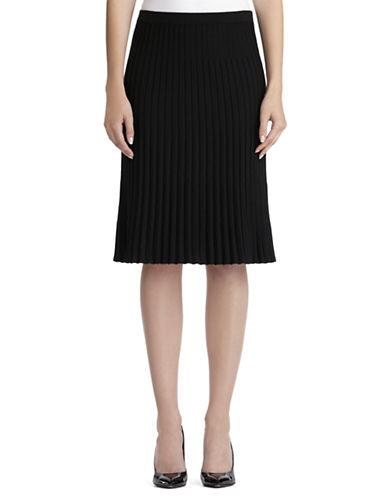 Jones New York Plus Plus Wool Blend Pleated Skirt