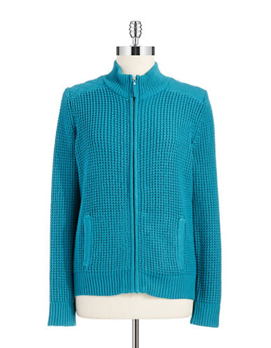 JONES NEW YORKWaffled Sweater Jacket