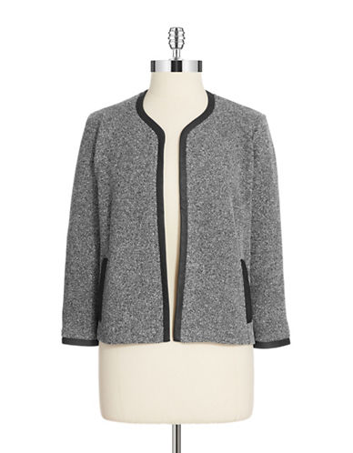 JONES NEW YORKFaux Leather Accented Bolero Jacket