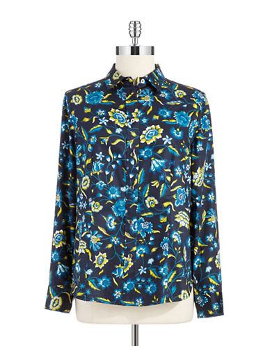 Jones New York Plus Plus Floral Blouse