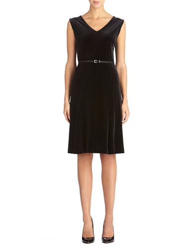 JONES NEW YORKBelted V Back Dress