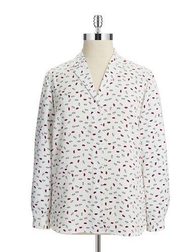 Jones New York Plus Plus Lip Blouse