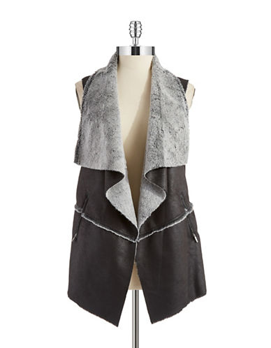Jones New York Plus Plus Faux Fur Vest