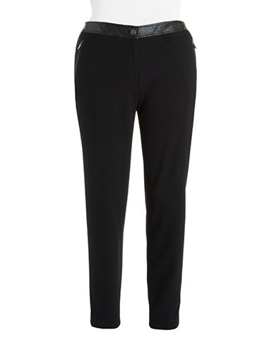 Jones New York Plus Plus Faux Leather Accented Jogger Pants
