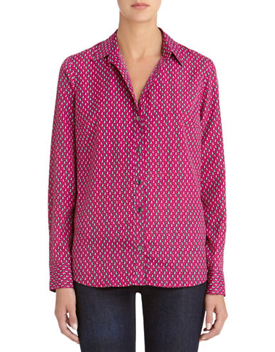 Jones New York Plus Plus Penguin Patterned Blouse