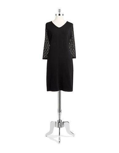 Shop Jones New York online and buy Jones New York V-Neck Knit Sleeve Dress dress online