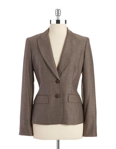 ANNE KLEINHerringbone Two Button Blazer