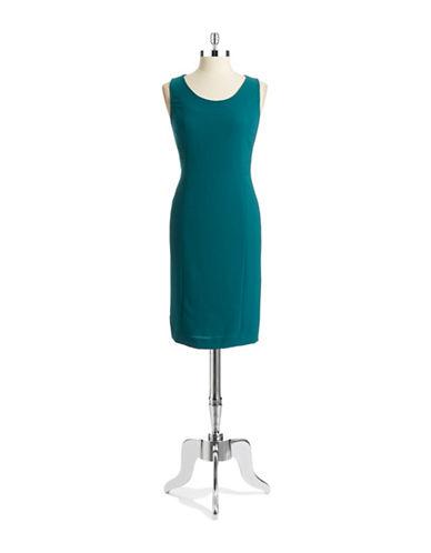 ANNE KLEINSolid Sleeveless Dress