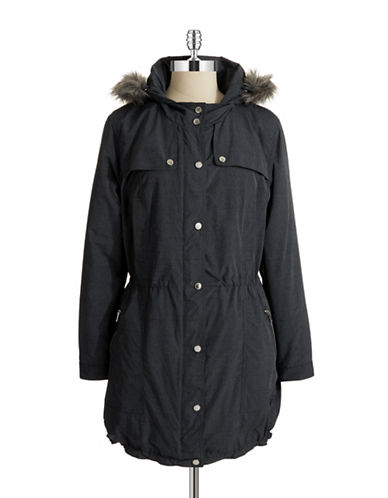Jones New York Plus Plus Faux Fur Hooded Anorak Coat